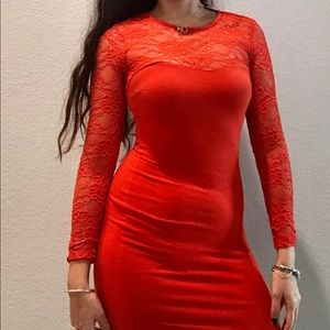 H&M Red bodycon party dress